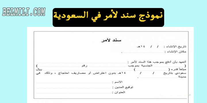 نموذج سند لأمر في السعودية Pdf بالمللي