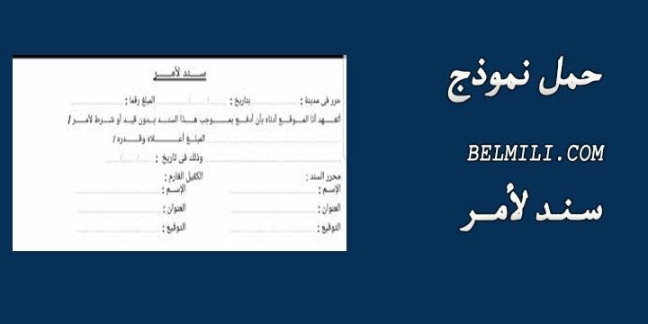 نموذج سند لأمر جاهز للطباعه حسب القانون السعودي Pdf Word بالمللي